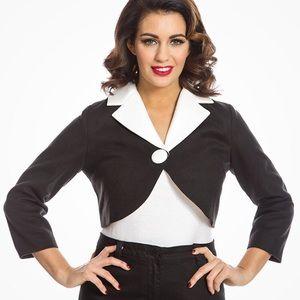 Lindybop Black & White Cropped Jacket